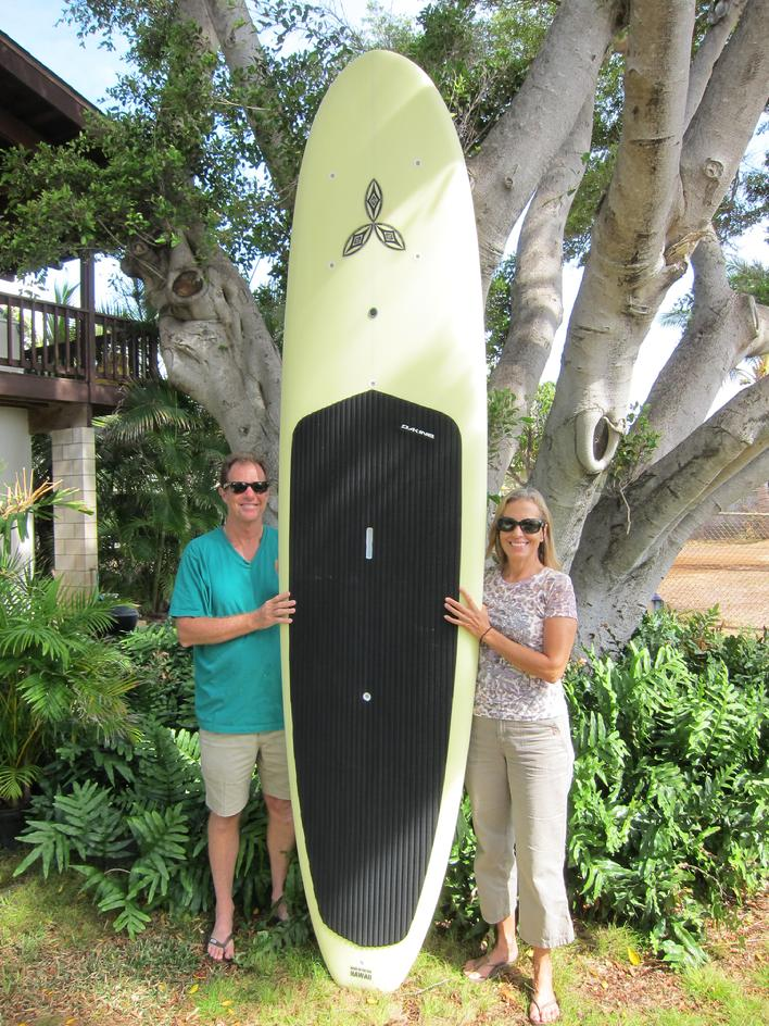 Elisa and Barry Morrison with new 10' 4""