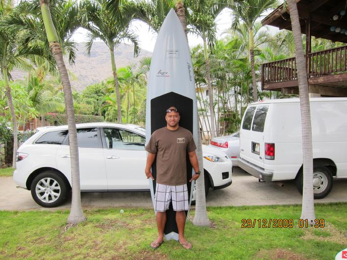 Kamu's big wave sup gun