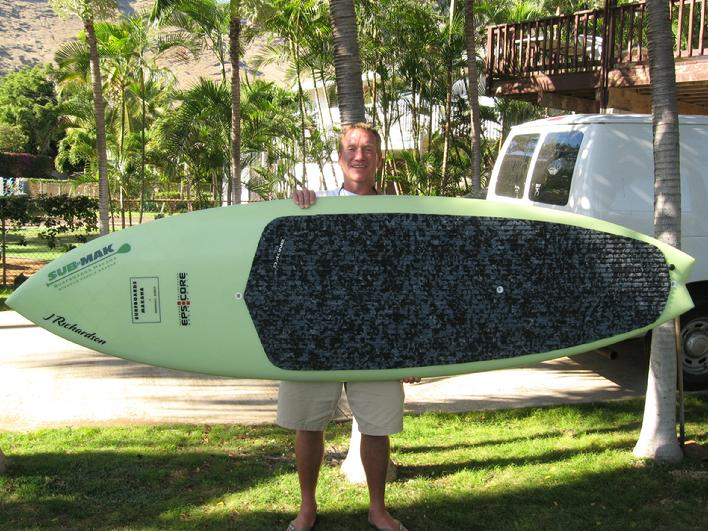 Kurt with new board headed to Kujukuri Japan