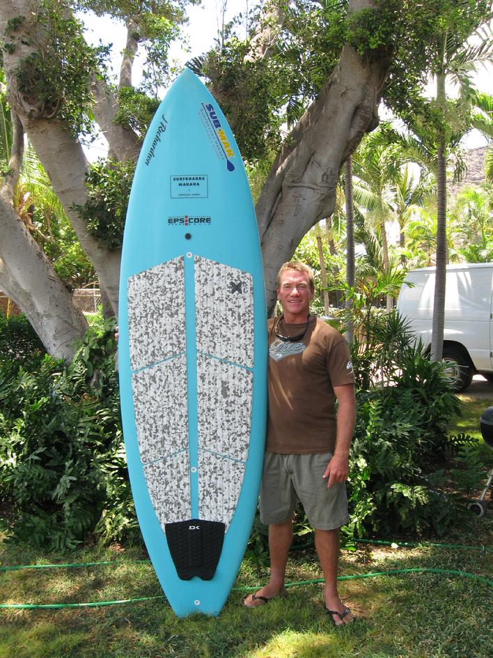 Kurt's new board for Kujukuri Japan