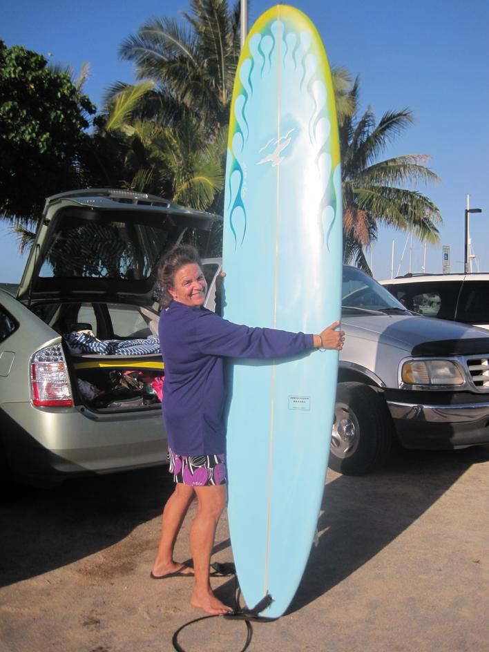 "Heidi with new 9'0"" air bruched by Jeannie"